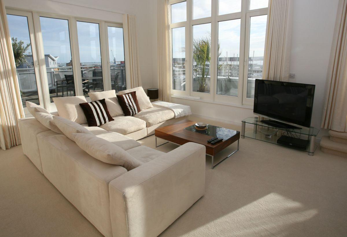 Luxusne vyzerajúca obývačka realitou